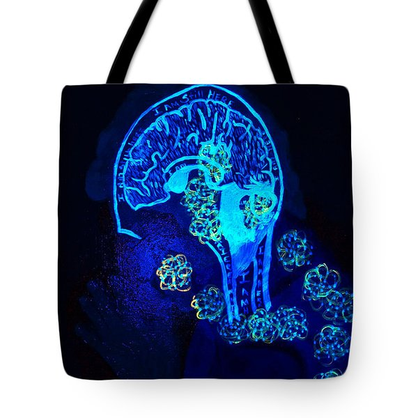 Al In The Mind Black Light View Tote Bag