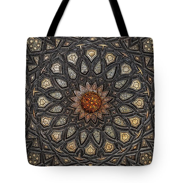 Al Ishaqi Wood Panel Tote Bag