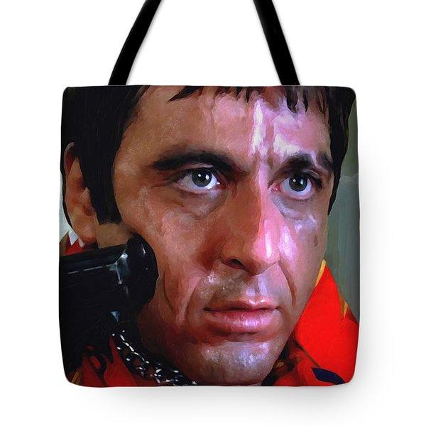 Al Pacino @ Scarface #1 Tote Bag by Gabriel T Toro
