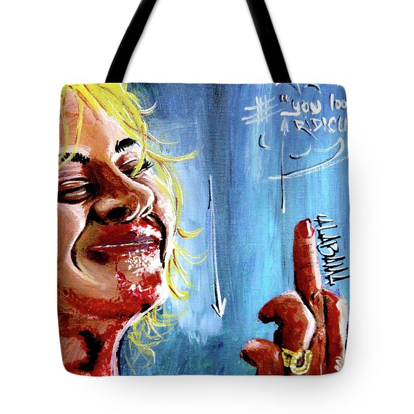 Tote Bag featuring the painting Alabama by eVol i