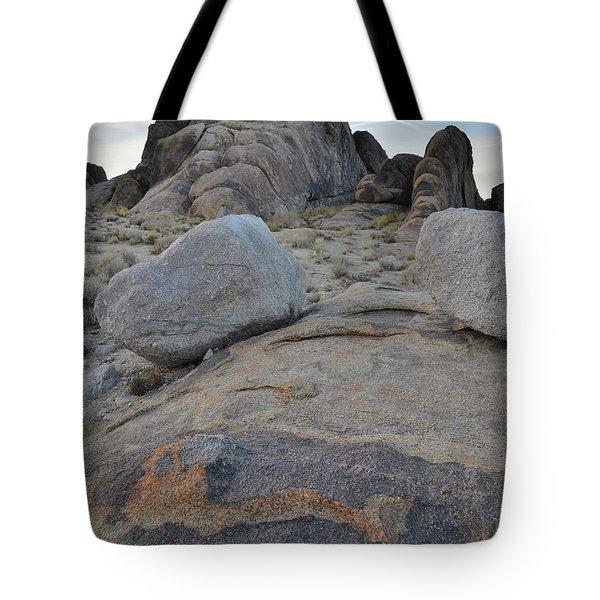Alabama Hills Boulders At Dusk Tote Bag