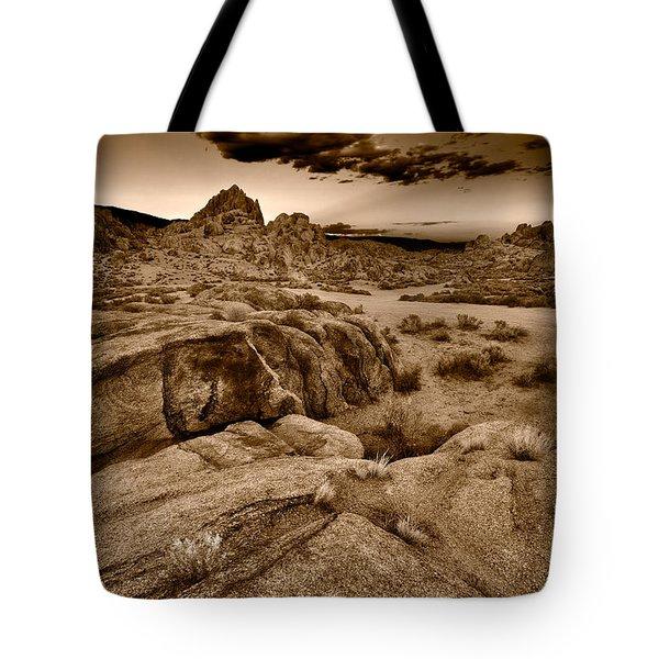 Alabama Hills California B W Tote Bag by Steve Gadomski