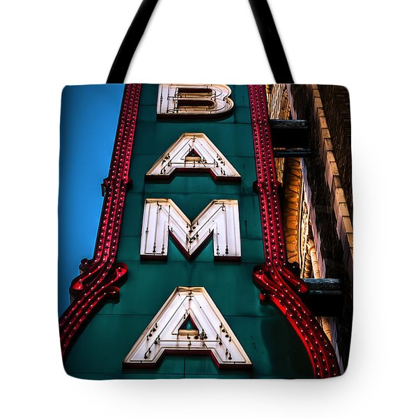 Alabama Theater Sign 1 Tote Bag by Phillip Burrow