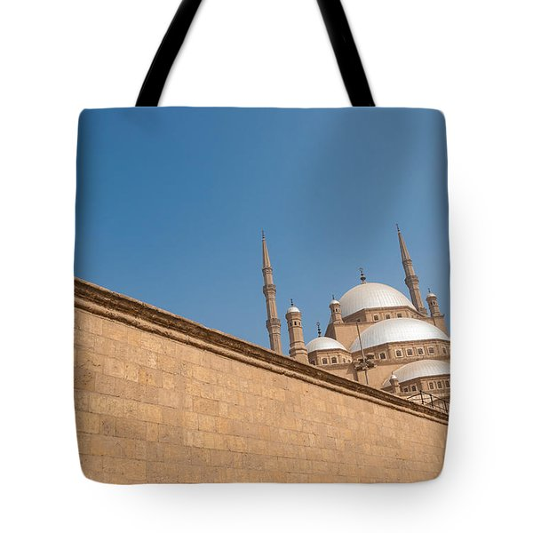 Alabaster Mosque From A Diagonal Perspective Tote Bag