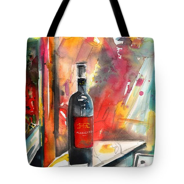 Alabastro Wine From Italy Tote Bag by Miki De Goodaboom