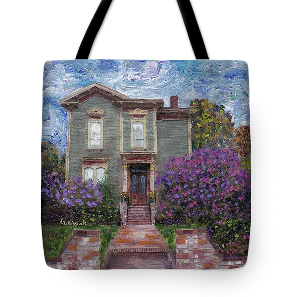 Tote Bag featuring the painting Alameda 1888 - Italianate by Linda Weinstock