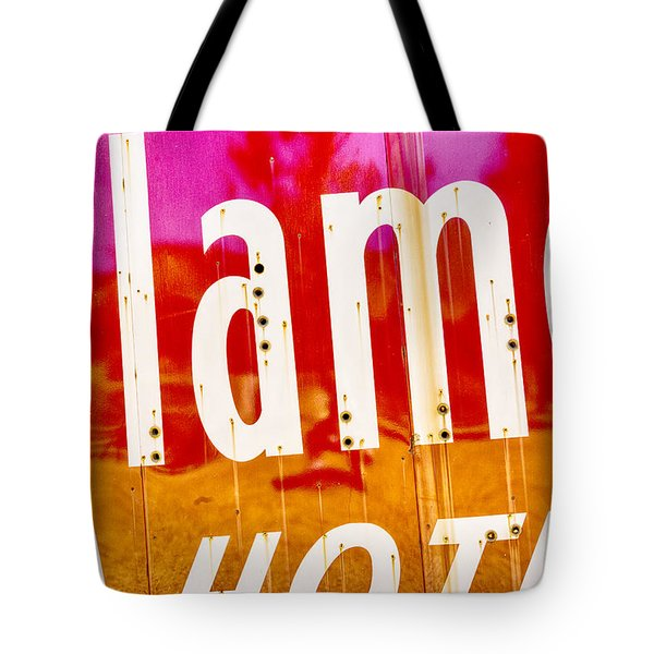 Alamo Hotel Sign Abstract Tote Bag