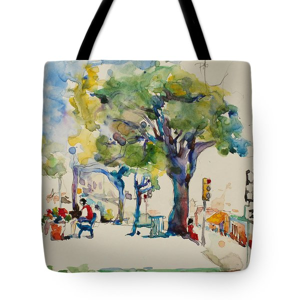 Alamo Plaza Tote Bag by Becky Kim