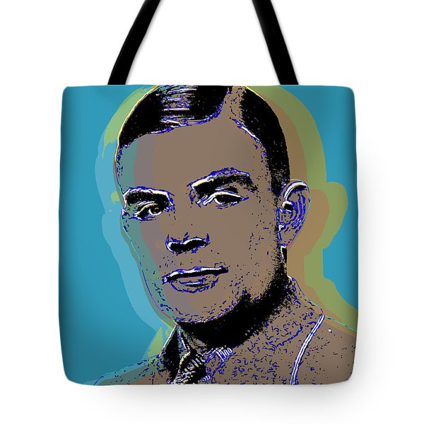 Alan Turing Pop Art Tote Bag