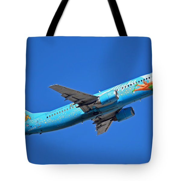Alaska Boeing 737-490 N791as Tinker Bell Phoenix Sky Harbor January 12 2016 Tote Bag