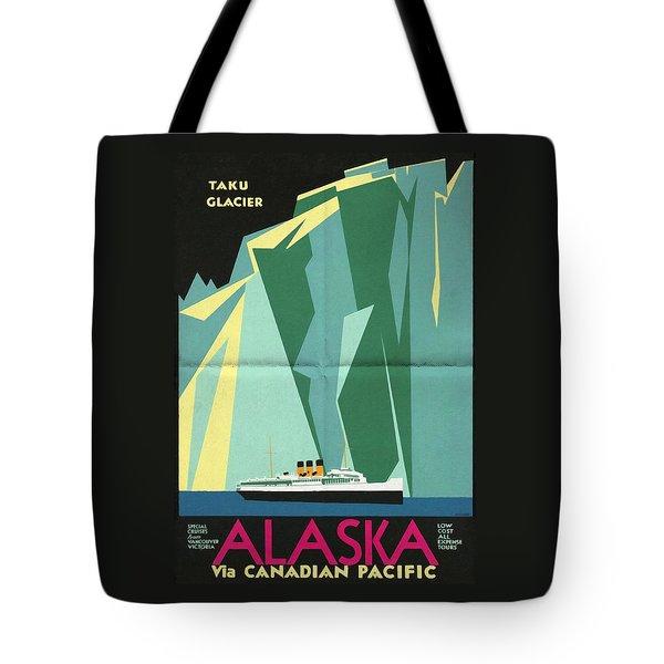 Alaska Canadian Pacific - Vintage Poster Folded Tote Bag