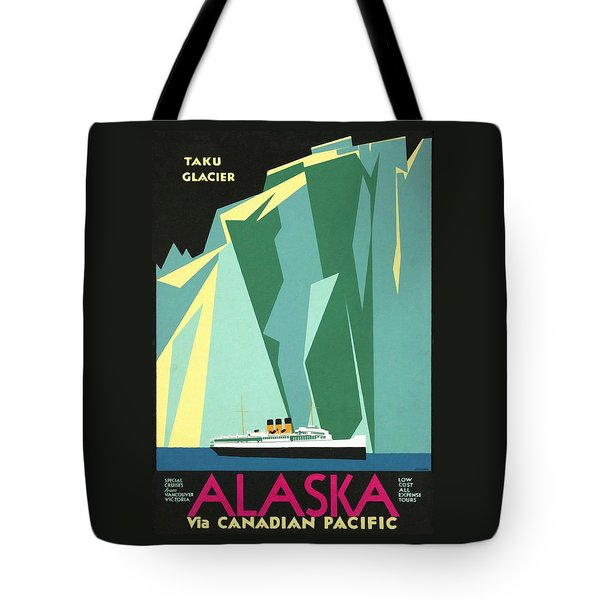 Alaska Canadian Pacific - Vintage Poster Restored Tote Bag