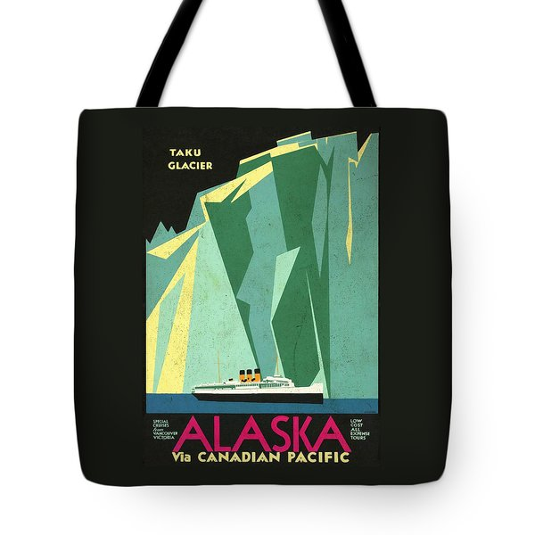 Alaska Canadian Pacific - Vintage Poster Vintagelized Tote Bag