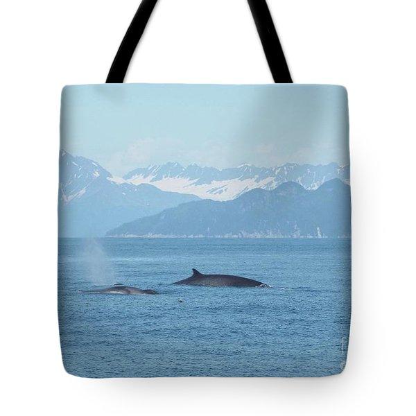 Alaska Finback Whales Tote Bag