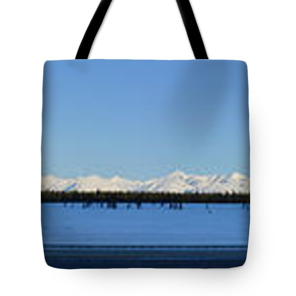 Alaska Highway Panorama Tote Bag
