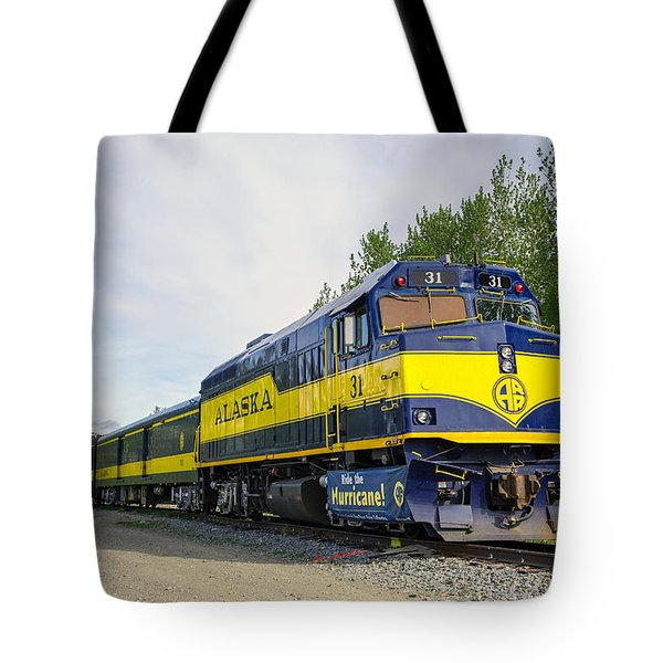 Alaska Hurrricane Turn Train Tote Bag by Allan Levin