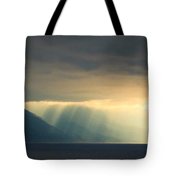 Alaska Inside Passage Under The Clouds Tote Bag