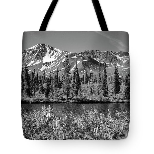 Tote Bag featuring the photograph Alaska Mountains by Zawhaus Photography