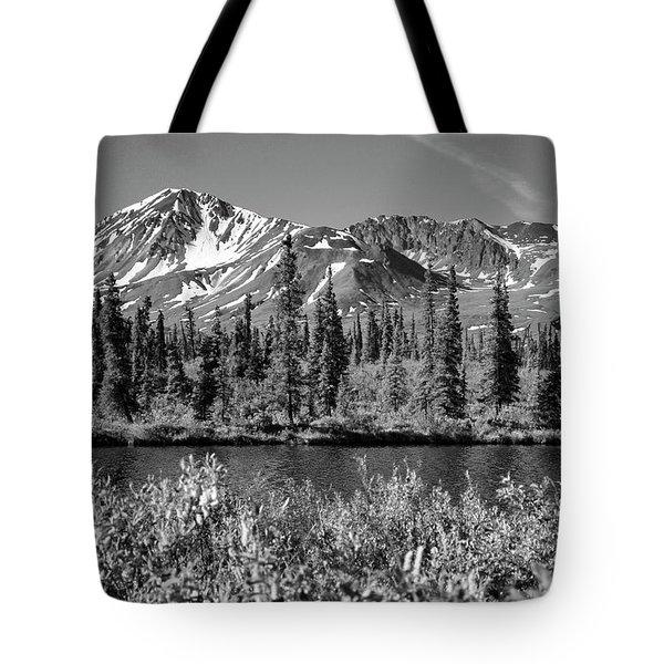 Alaska Mountains Tote Bag by Zawhaus Photography