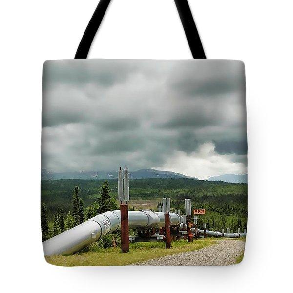 Alaska Pipeline Tote Bag