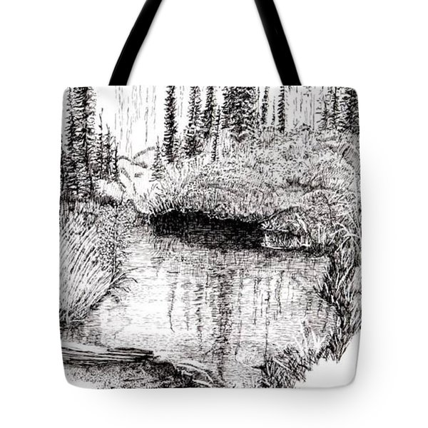 Alaska Pond Tote Bag