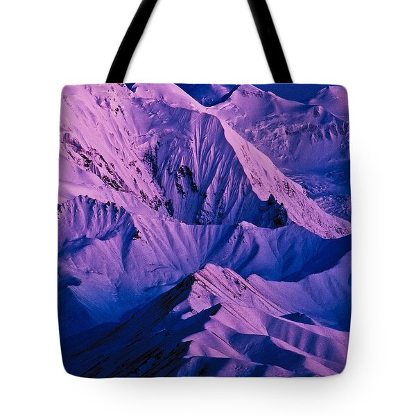 Alaska Range Twilight Tote Bag by Tim Rayburn