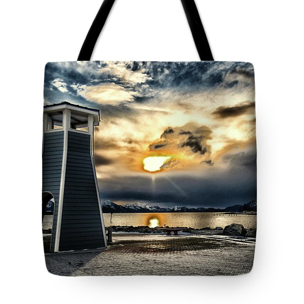 Tote Bag featuring the photograph Alaska Starts Here Seward Alaska by Michael Rogers