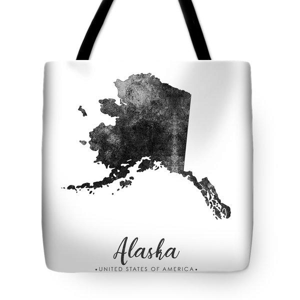 Alaska State Map Art - Grunge Silhouette Tote Bag