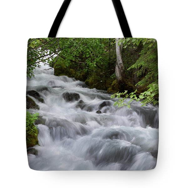 Alaska Waterfall Picture  Tote Bag