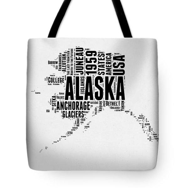 Alaska Word Cloud 2 Tote Bag
