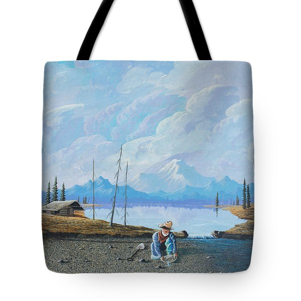 Tote Bag featuring the painting Alaskan Atm by Richard Faulkner