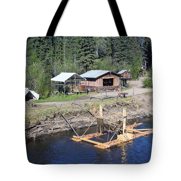 Alaskan Fishing Camp Tote Bag by Allan Levin