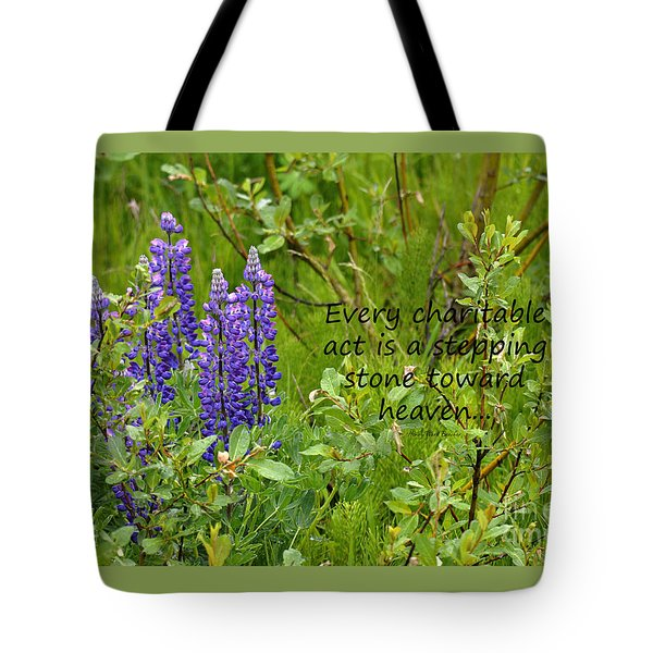Tote Bag featuring the photograph Alaskan Lupine Heaven by Diane E Berry