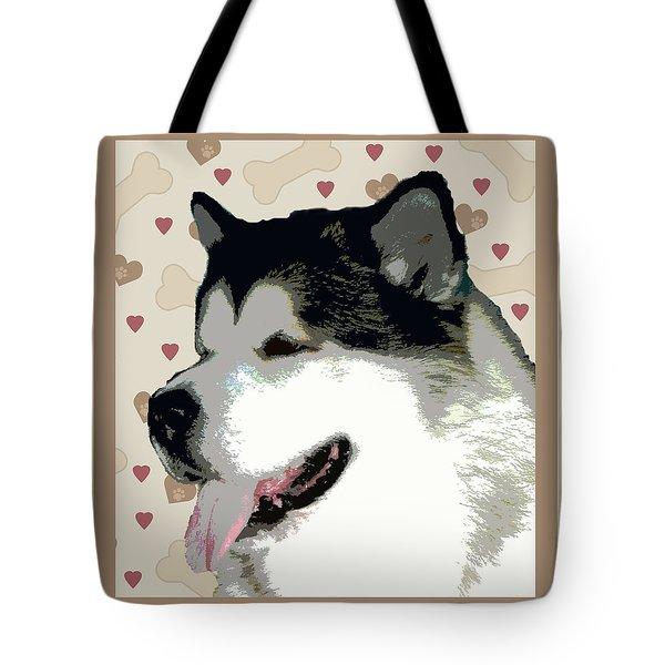 Alaskan Malamute Tote Bag by One Rude Dawg Orcutt