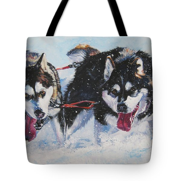 Alaskan Malamute Strong And Steady Tote Bag by Lee Ann Shepard