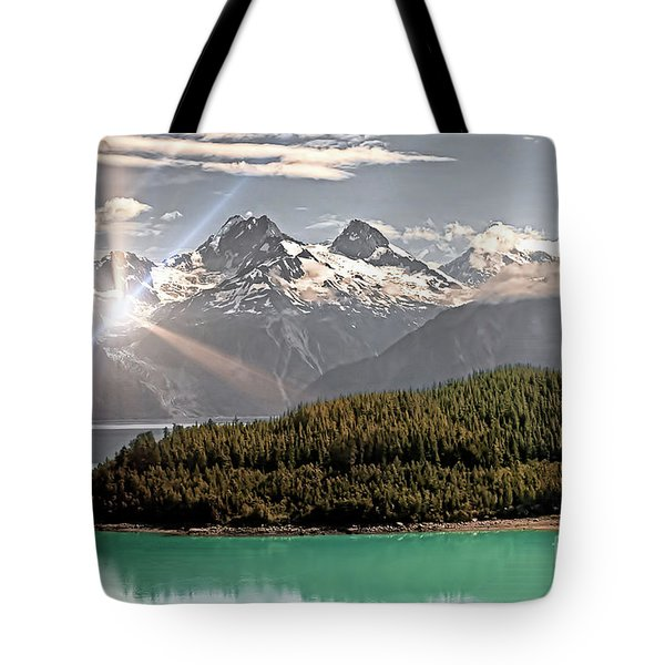 Alaskan Mountain Reflection Tote Bag
