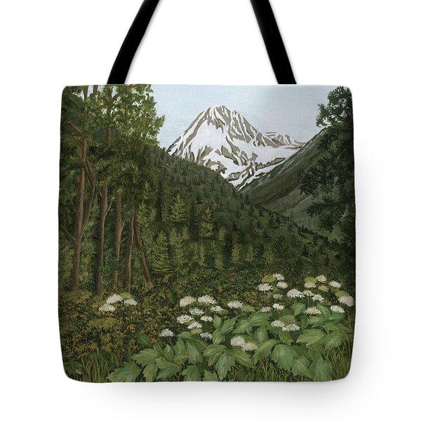 Alaskan Mountains Tote Bag
