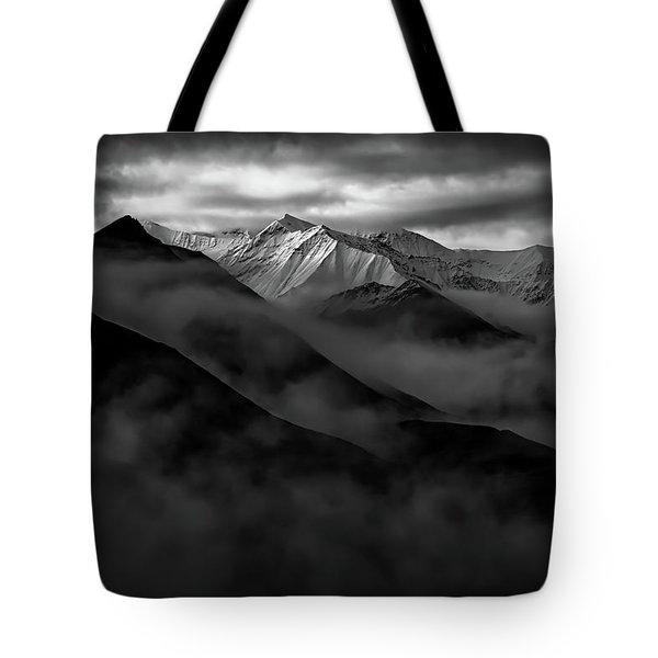 Alaskan Peak In The Shadows Tote Bag