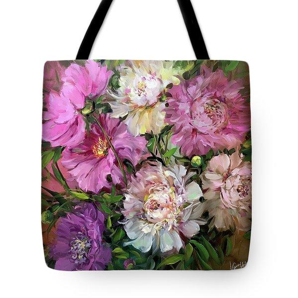 Alaskan Summer Peony Garden Tote Bag