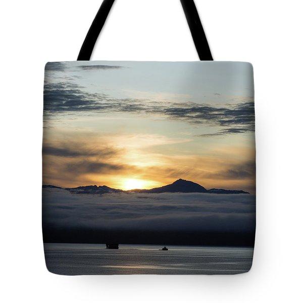 Alaskan Sun Rise Tote Bag