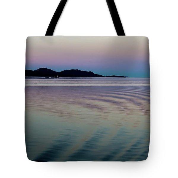 Alaskan Sunset At Sea Tote Bag
