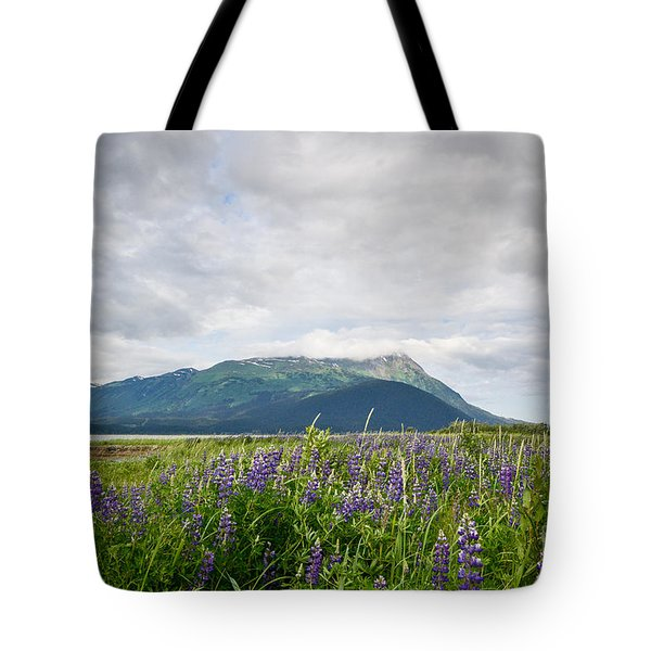 Alaskan Wildflowers Tote Bag