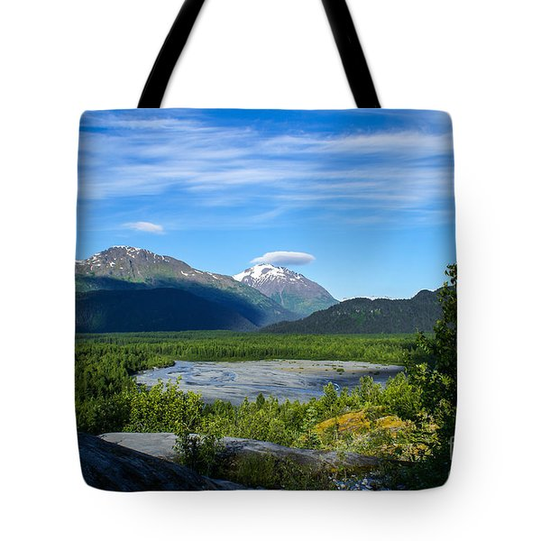 Alaska's Exit Glacier Valley Tote Bag