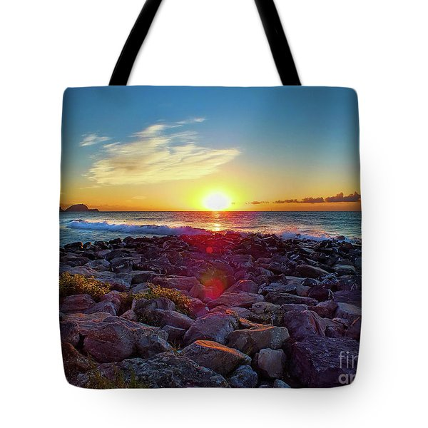 Alassio Sunset Tote Bag by Karen Lewis