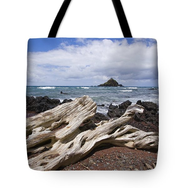 Alau Islet, Driftwood Tote Bag by Ron Dahlquist - Printscapes