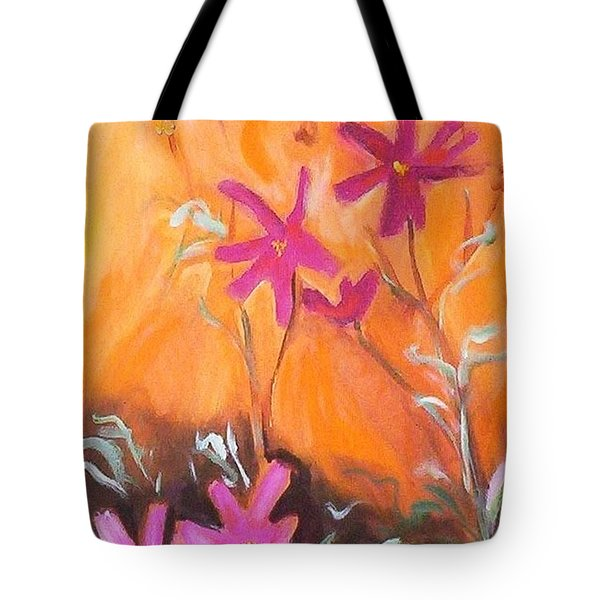 Tote Bag featuring the painting Alba Daisies by Winsome Gunning