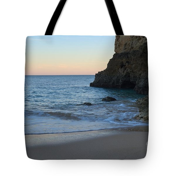 Albandeira Beach Welcoming Twilight 2 Tote Bag by Angelo DeVal