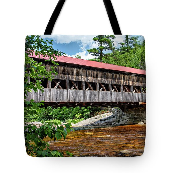 Tote Bag featuring the photograph Albany Covered Bridge  by Betty Pauwels