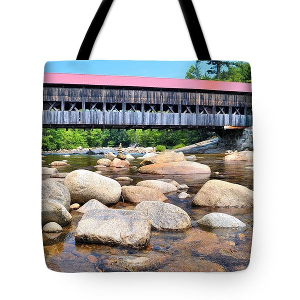 Albany Covered Bridge Tote Bag