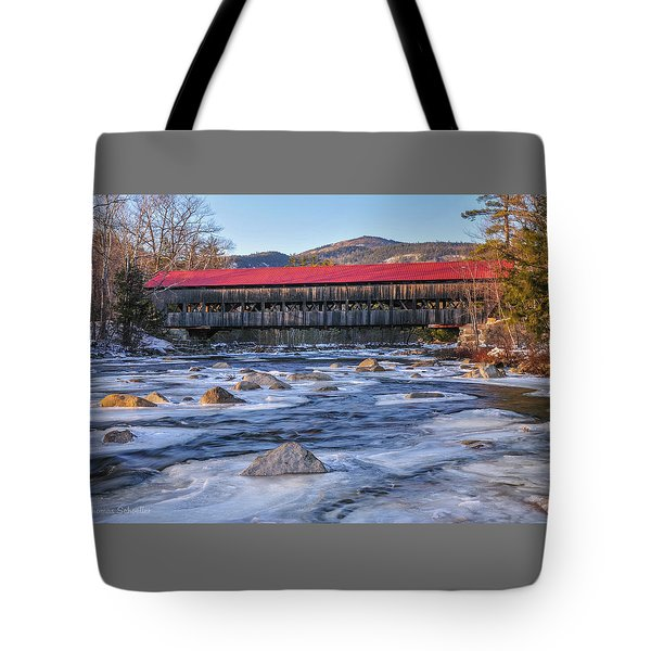 Albany Covered Bridge-white Mountains Of New Hampshire Tote Bag